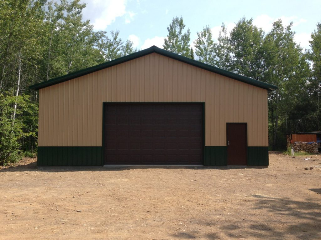 Pole barn garage on whiteface reservoir knutson custom for Barn construction designs