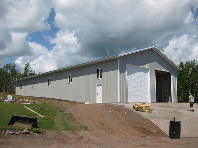 Gallery knutson custom construction for Building a garage on a sloped lot