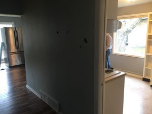 Before kitchen remodel (this wall was removed)